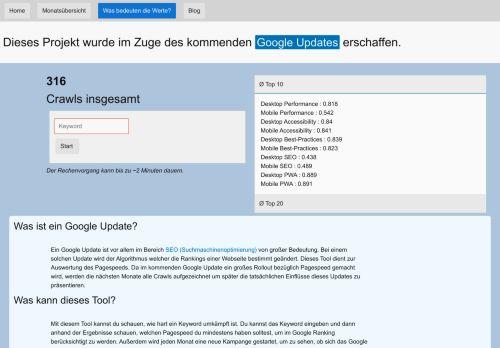 Contentbär Suchmaschinenoptimierung Referenz pagespeedstudies
